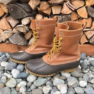 L.L. Bean Shoes - Bean Boots 10 Inch Womens 8.5 Leather Duck Tall